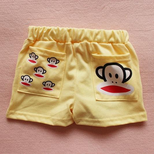 กางเกงขาสั้น Paul Frank สีเหลือง (10 ตัว/pack)