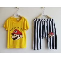 เซ็ทเสื้อกางเกง-Super-Mario-สีเหลือง-(10-ตัว/pack)