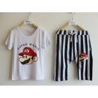 เซ็ทเสื้อกางเกง-Super-Mario-สีขาว-(10-ตัว/pack)