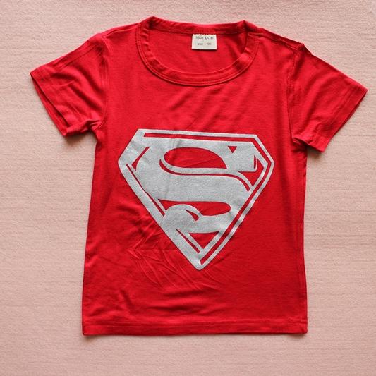เสื้อยืดแขนสั้น Superman สีแดง (10 ตัว/pack)