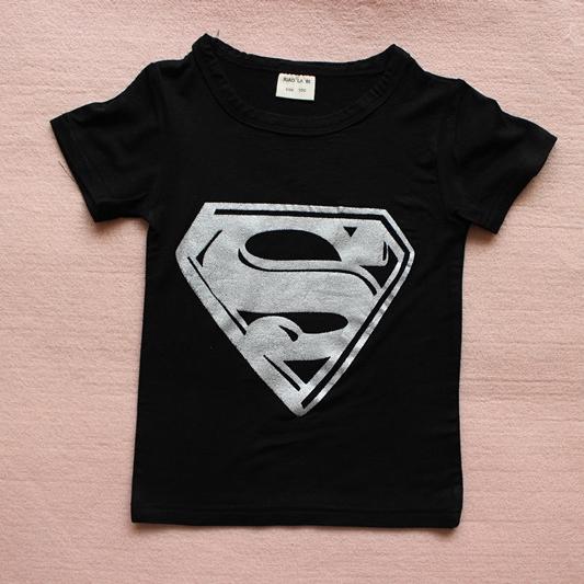 เสื้อยืดแขนสั้น Superman สีดำ (10 ตัว/pack)