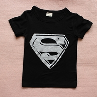 เสื้อยืดแขนสั้น-Superman-สีดำ-(10-ตัว/pack)