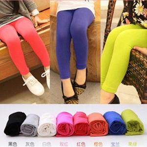 กางเกงเลกกิ้งขายาวสีสดใส คละสี (12 ตัว /pack)