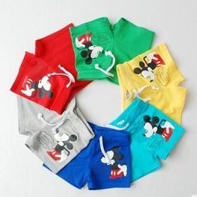 กางเกงขาสั้น Mickey Mouse คละสี (10 ตัว/pack)
