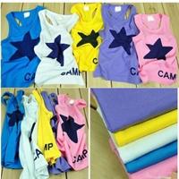เสื้อกล้ามเด็ก-Star-Camp-คละสี-(10-ตัว/pack)