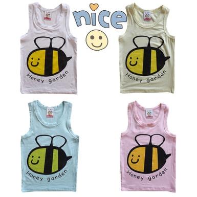 เสื้อกล้ามเด็ก Happy Garden คละสี (10 ตัว/pack)