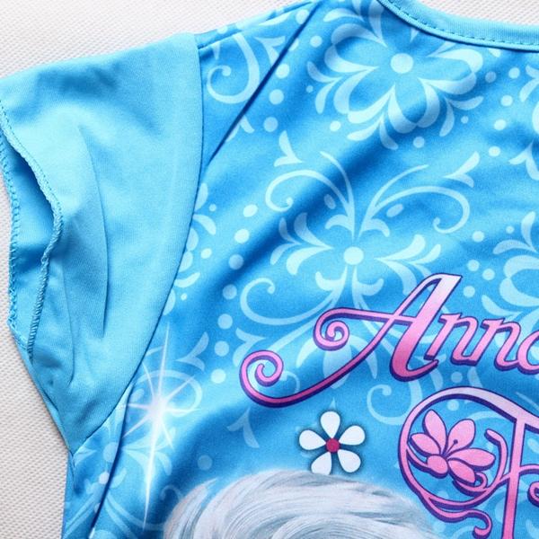 เดรสเจ้าหญิง Anna และ Elsa สีฟ้า (4 ตัว/pack)