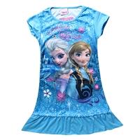 เดรสเจ้าหญิง-Anna-และ-Elsa-สีฟ้า-(4-ตัว/pack)
