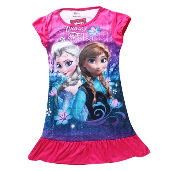 เดรสเจ้าหญิง Anna และ Elsa สีบานเย็น (4 ตัว/pack)