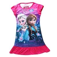 เดรสเจ้าหญิง-Anna-และ-Elsa-สีบานเย็น-(4-ตัว/pack)