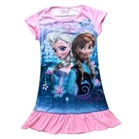 เดรสเจ้าหญิง-Anna-และ-Elsa-สีชมพู-(4-ตัว/pack)