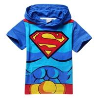 เสื้อยืดเด็กแขนสั้น-Superman-สีฟ้า-(6-ตัว/pack)