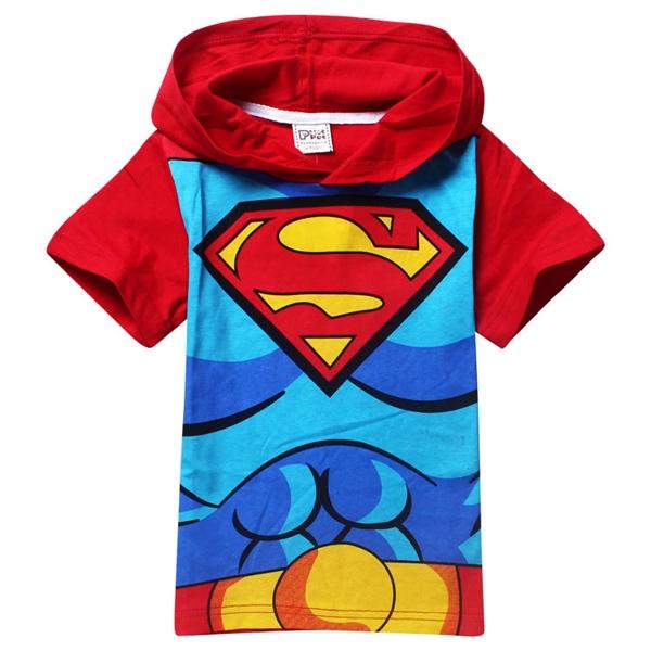 เสื้อยืดเด็กแขนสั้น Superman สีแดง (6 ตัว/pack)