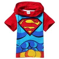 เสื้อยืดเด็กแขนสั้น-Superman-สีแดง-(6-ตัว/pack)