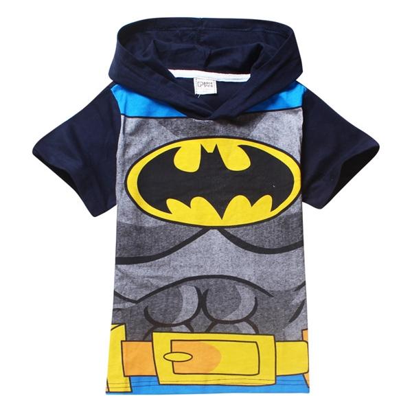เสื้อยืดเด็กแขนสั้น Batman สีดำ (6 ตัว/pack)