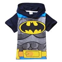 เสื้อยืดเด็กแขนสั้น-Batman-สีดำ-(6-ตัว/pack)