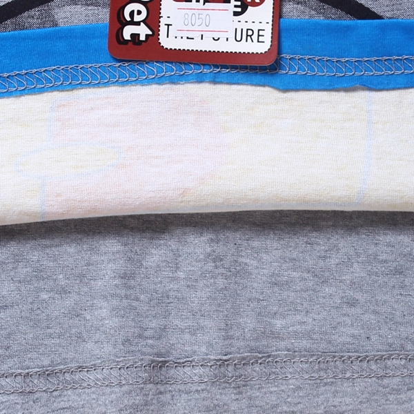 เสื้อยืดเด็กแขนสั้น Batman สีเทา (6 ตัว/pack)