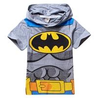 เสื้อยืดเด็กแขนสั้น-Batman-สีเทา-(6-ตัว/pack)