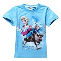 เสื้อยืดเจ้าหญิงเจ้าชายขี่กวางสีฟ้า-(6-ตัว/pack)