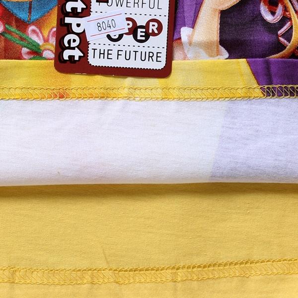 เสื้อยืดเจ้าหญิงดิสนีย์ สีเหลือง (6 ตัว/pack)