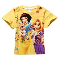 เสื้อยืดเจ้าหญิงดิสนีย์-สีเหลือง-(6-ตัว/pack)