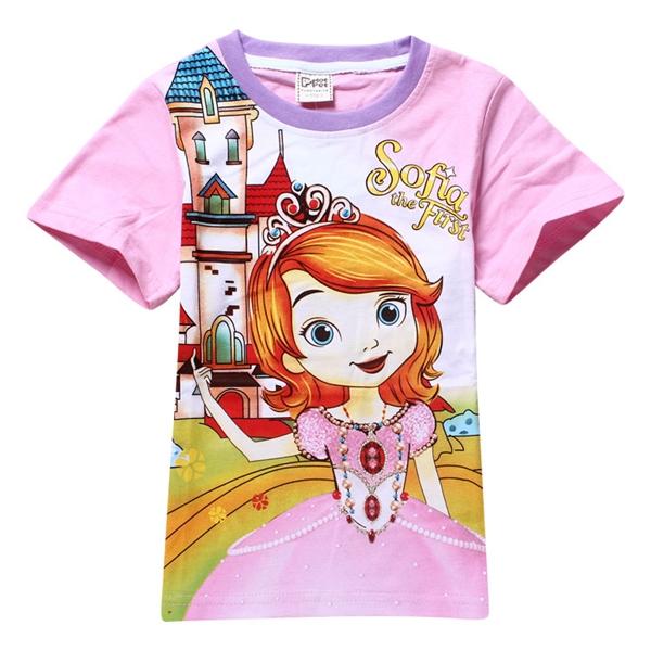 เสื้อยืดเจ้าหญิงดิสนีย์ Sofia สีชมพู (6 ตัว/pack)