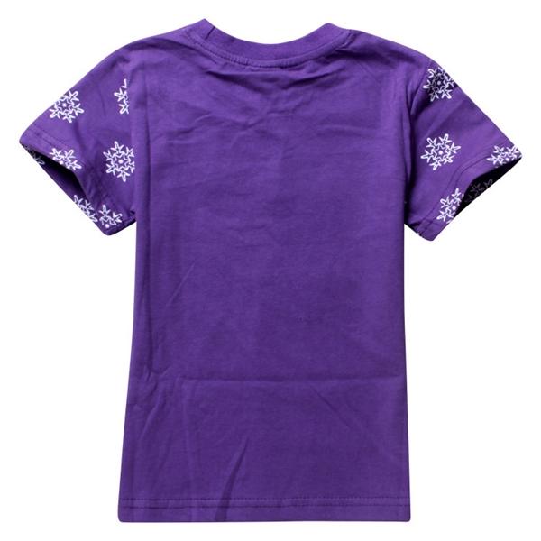 เสื้อยืดเจ้าหญิงดิสนีย์ Frozen สีม่วง (6 ตัว/pack)