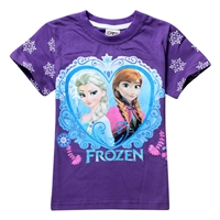 เสื้อยืดเจ้าหญิงดิสนีย์-Frozen-สีม่วง-(6-ตัว/pack)