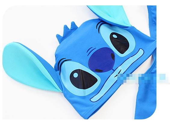 ชุดว่ายน้ำ Stitch สีฟ้า พร้อมหมวก(5 ตัว/pack)