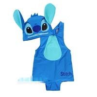 ชุดว่ายน้ำ-Stitch-สีฟ้า-พร้อมหมวก(5-ตัว/pack)