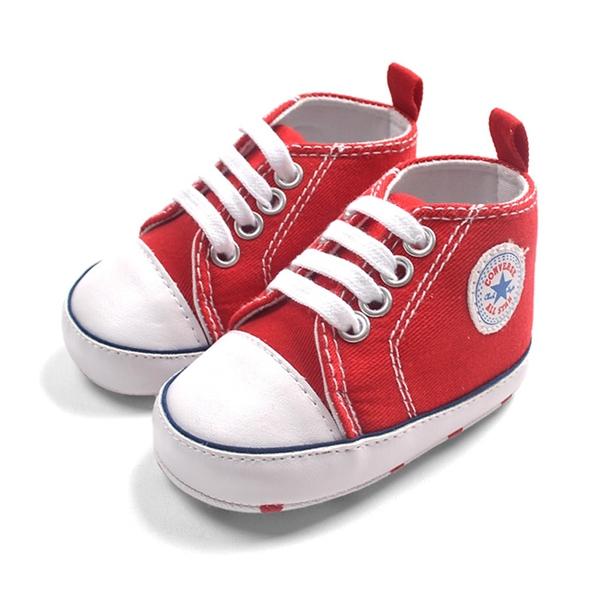 รองเท้าผ้าใบเด็ก Converse สีแดง (6 คู่/pack)