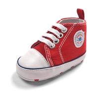 รองเท้าผ้าใบเด็ก-Converse-สีแดง-(6-คู่/pack)