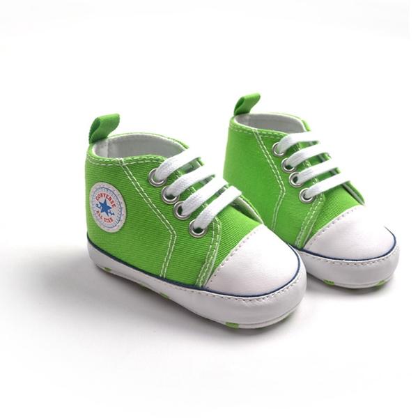 รองเท้าผ้าใบเด็ก Converse สีเขียว (6 คู่/pack)