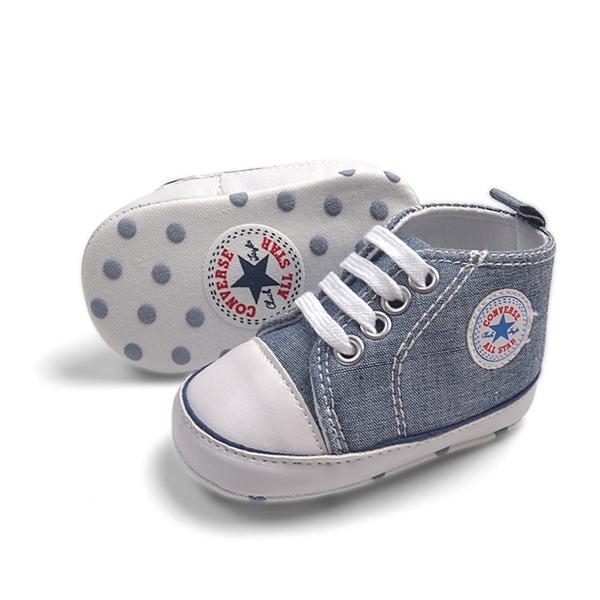 รองเท้าผ้าใบเด็ก Converse สียีนส์ (6 คู่/pack)