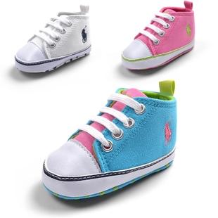 รองเท้าผ้าใบเด็ก POLO สีขาว (6 คู่/pack)