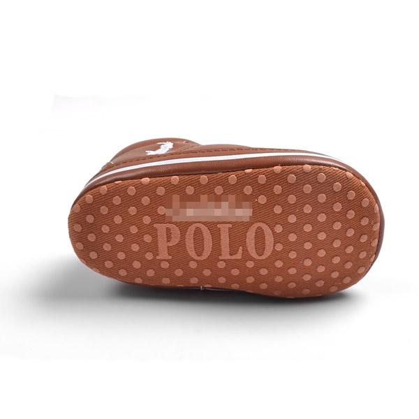 รองเท้าเด็กคุณชาย POLO สีน้ำตาล (6 คู่/pack)