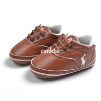 รองเท้าเด็กคุณชาย-POLO-สีน้ำตาล-(6-คู่/pack)