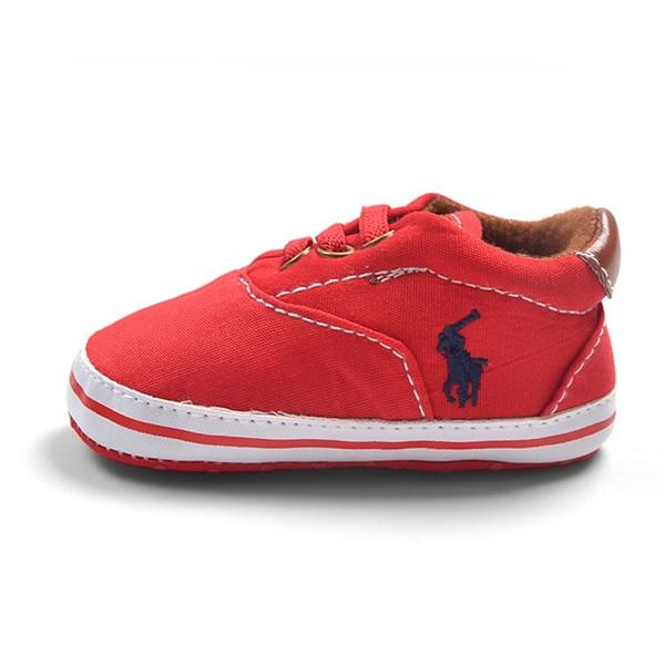 รองเท้าผ้าใบเด็ก POLO สีแดง (6 คู่/pack)