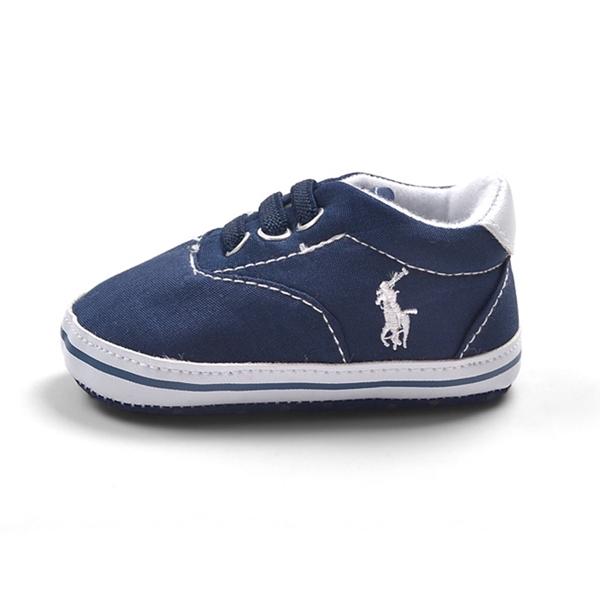 รองเท้าผ้าใบเด็ก POLO สีน้ำเงิน (6 คู่/pack)
