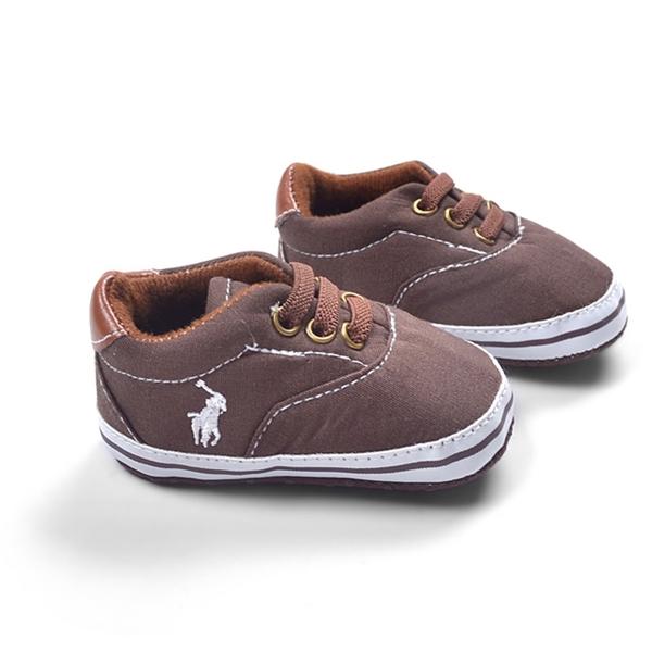 รองเท้าผ้าใบเด็ก POLO สีน้ำตาล (6 คู่/pack)