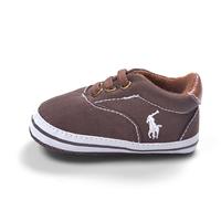 รองเท้าผ้าใบเด็ก-POLO-สีน้ำตาล-(6-คู่/pack)