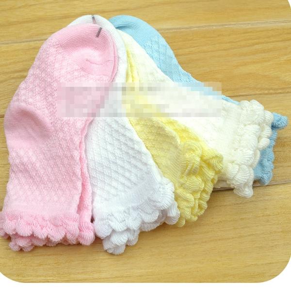 ถุงเท้าเด็กแฟชั่น สีหวาน คละสี (15 คู่ /pack)