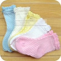 ถุงเท้าเด็กแฟชั่น-สีหวาน-คละสี-(15-คู่-/pack)