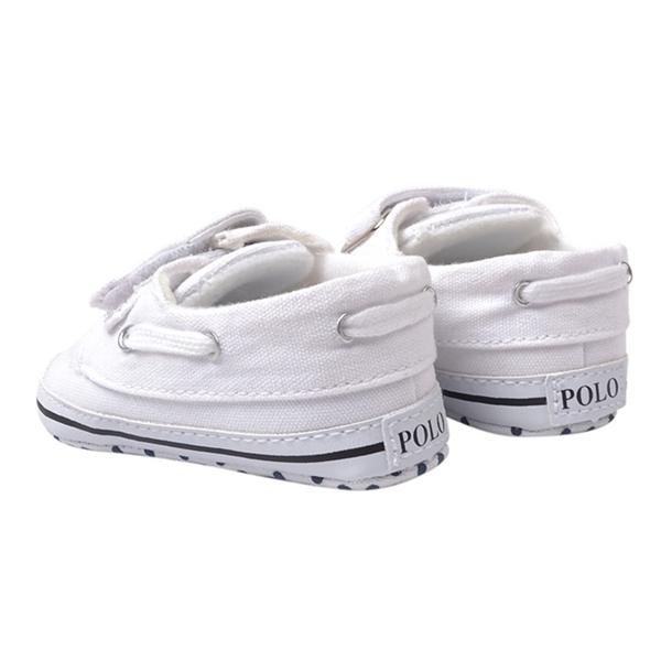 รองเท้าผ้าใบเด็ก POLO สีขาว(6 คู่/pack)