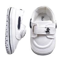 รองเท้าผ้าใบเด็ก-POLO-สีขาว(6-คู่/pack)