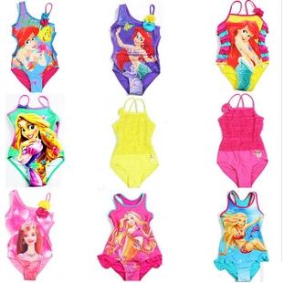 ชุดว่ายน้ำเด็กหญิง Barbie สีฟ้า (3 ตัว/pack)