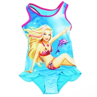 ชุดว่ายน้ำเด็กหญิง-Barbie-สีฟ้า-(3-ตัว/pack)
