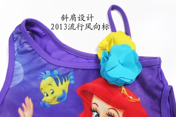 ชุดว่ายน้ำเด็กหญิง Mermaids สีม่วง (3 ตัว/pack)