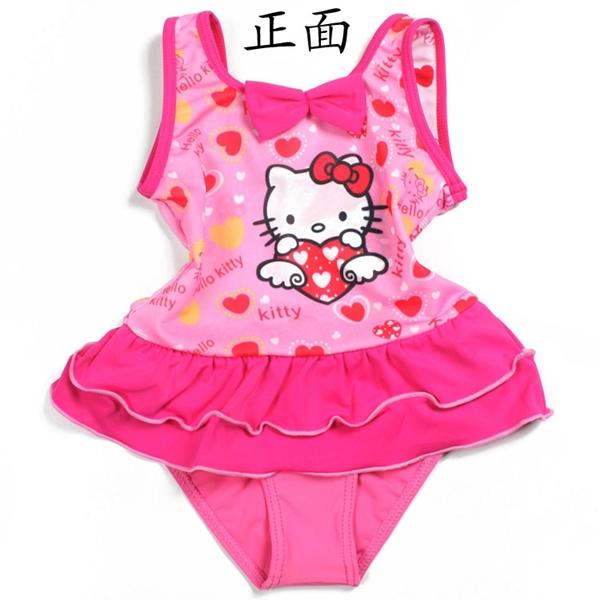 ชุดว่ายน้ำเด็ก Hello Kitty สีชมพู (3 ตัว/pack)