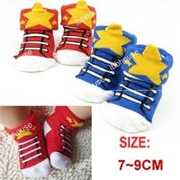 ถุงเท้าเด็กลายรองเท้าผ้าใบสดใสคละสี-(20-คู่-/pack)